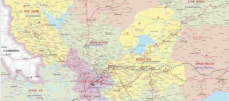 Cập nhật danh sách các tỉnh Đông Nam Bộ