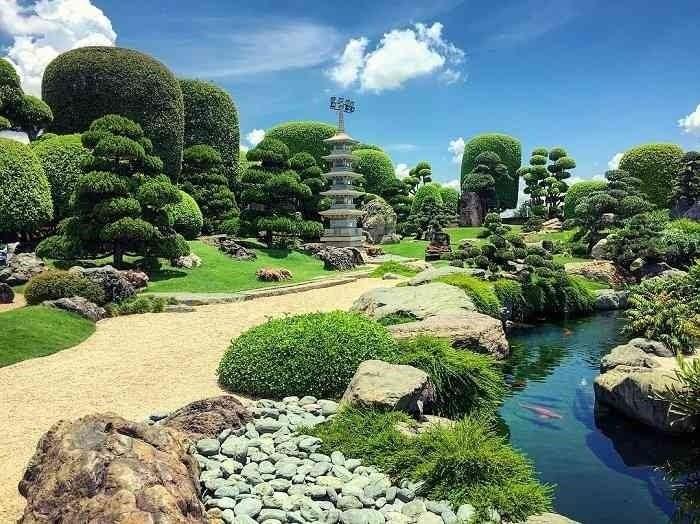 Công viên với cảnh sắc thiên nhiên tươi đẹp