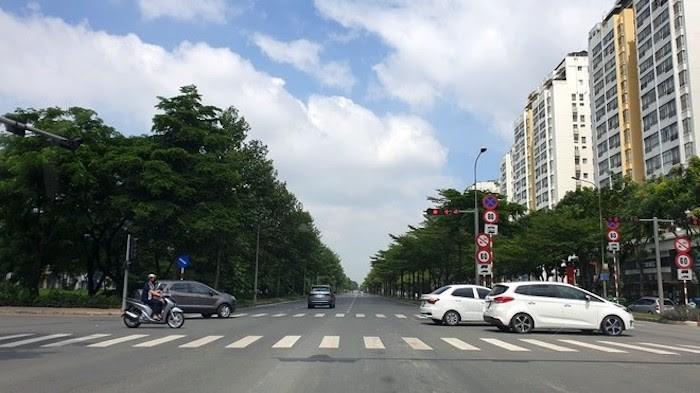 Đường Nguyễn Văn Linh là con đường huyết mạch của Khu đô thị Phú Mỹ Hưng